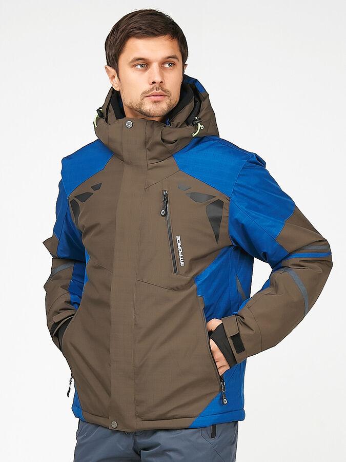 Мужская зимняя горнолыжная куртка цвета хаки 1972Kh