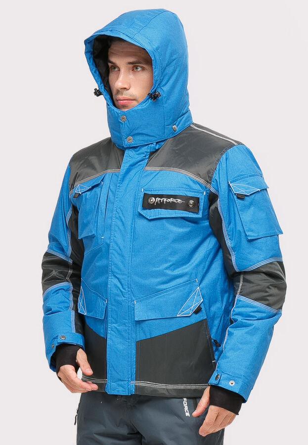 Мужская зимняя горнолыжная куртка синего цвета 1912S