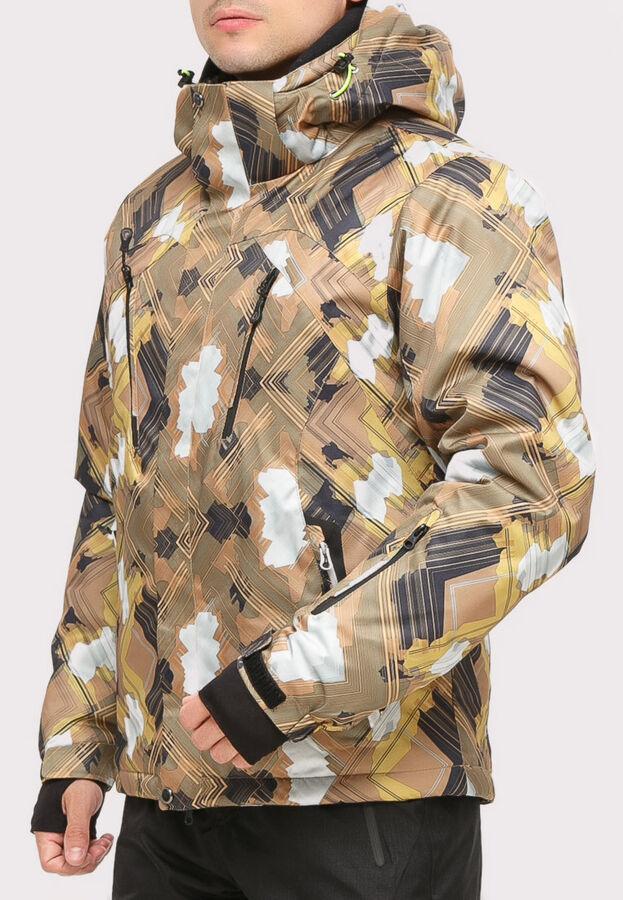 Мужской зимний костюм горнолыжный коричневого цвета 018108K