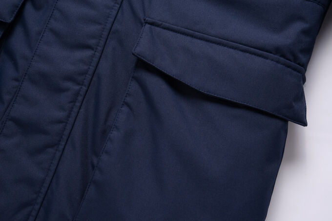 Парка зимняя для мальчика Valianly темно-синего цвета 9041TS