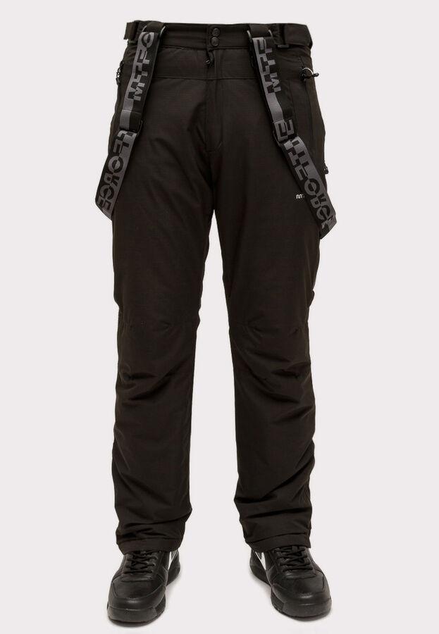 Мужские зимние горнолыжные брюки черного цвета 804Ch