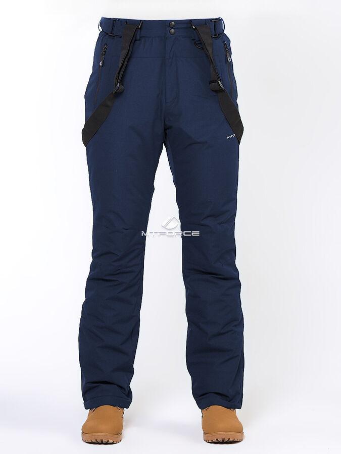 Мужские зимние горнолыжные брюки темно-синего цвета 18005TS