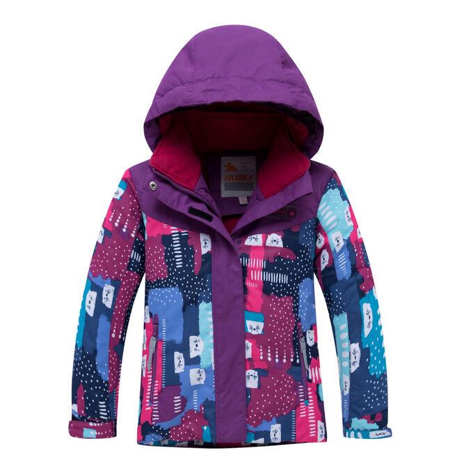 Детский зимний костюм горнолыжный фиолетового цвета 8926F