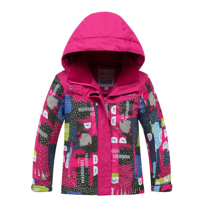 Детский зимний костюм горнолыжный розового цвета 8926R