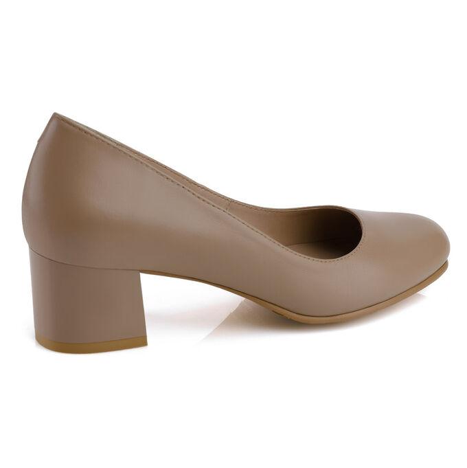 Модельные женские туфли из натуральной кожи. Модель 2367 беж роз