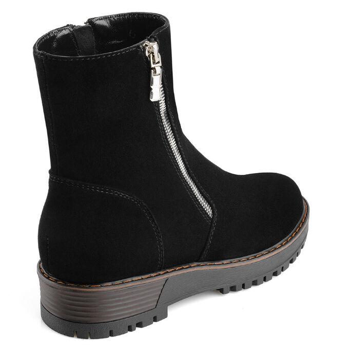 Зимние замшевые женские ботинки. Модель 3222 н замша (зима)