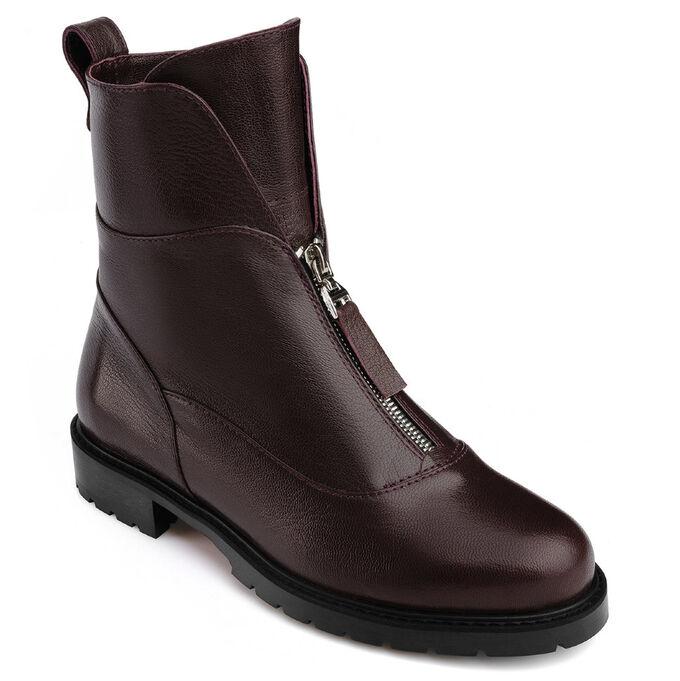 Бордовые женские ботинки. Модель 3227 б бордо наппа (демисезон)