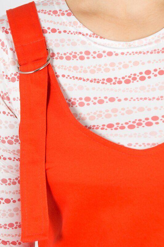Сарафан Состав: Хлопок 95%, Эластан 5%.  Цвет: Ярко-оранжевый.