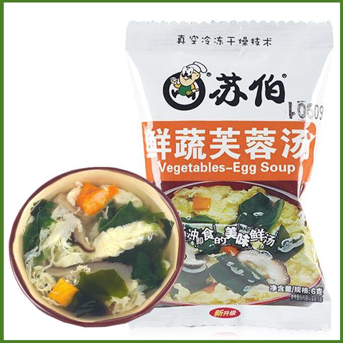 Овощной суп с грибами и яйцом быстрого приготовления
