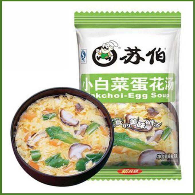 Овощной суп с яйцом быстрого приготовления KFC