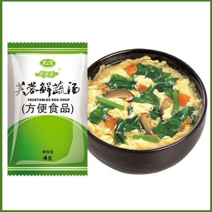 Овощной суп с яйцом быстрого приготовления
