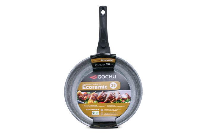 Сковорода Gochu Ecoramic 28 см СТАНДАРТ с каменным покрытием для всех видов плит.