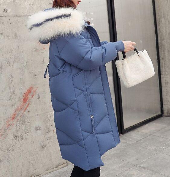 Зимний пуховик,синий