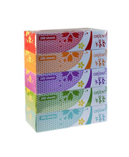 Салфетки бумажные 5 пачек по  200 двойных листов