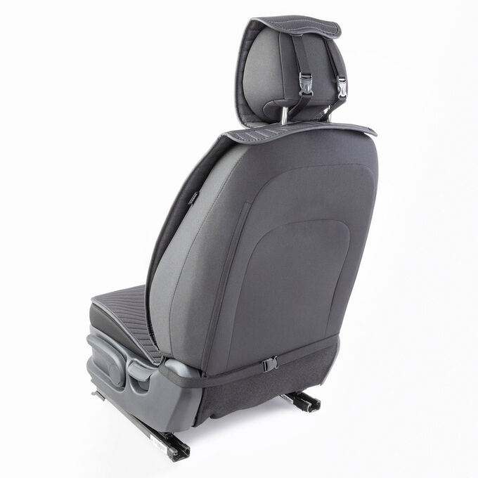 "Накидки на передние сиденья ""Car Performance"", 2 шт., fiberflax CUS-1022 BK/GY"