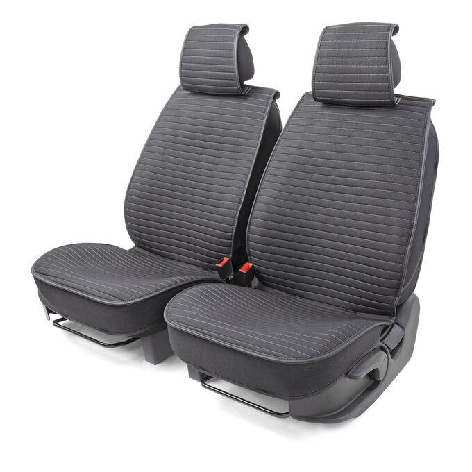 """Каркасные накидки на передние сиденья """"Car Performance"""", 2 шт., fiberflax CUS-2022 BK/GY"""