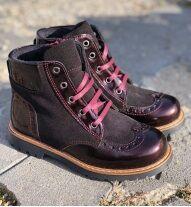 Ботинки Ботинки. Цвет бордо. Замок есть