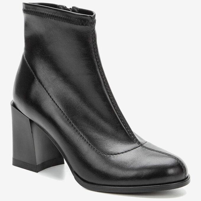 908059/07-01 черный иск.кожа женские ботинки
