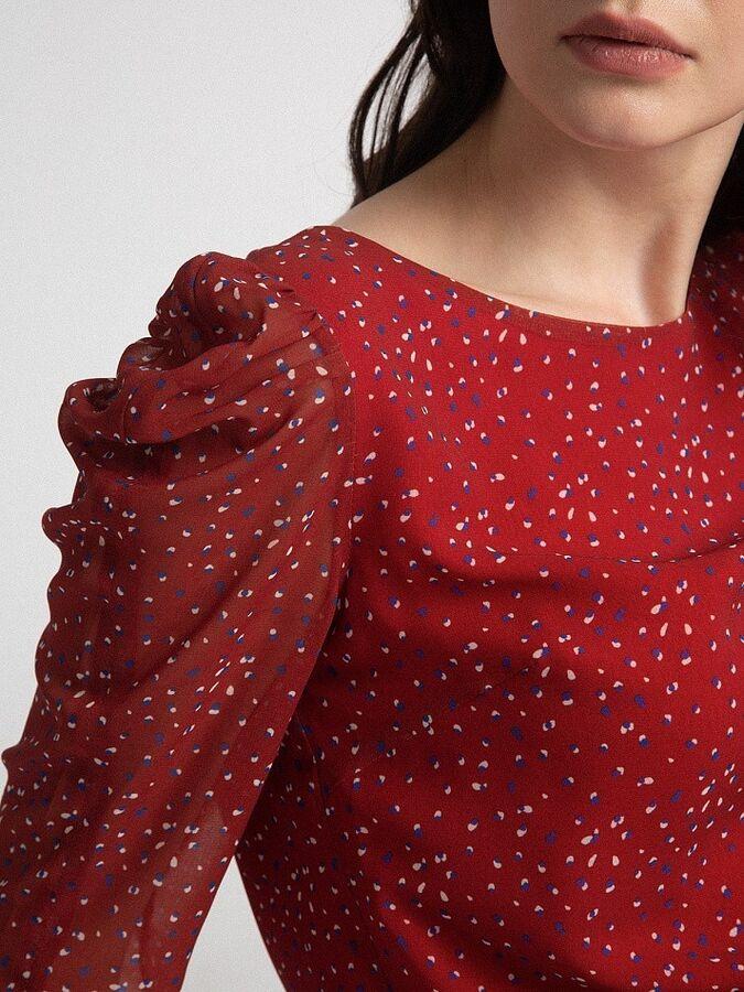 Шифоновая блузка с принтом B2556/kaufman