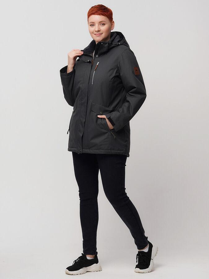 Горнолыжная куртка MTFORCE bigsize темно-серого цвета 2047TC