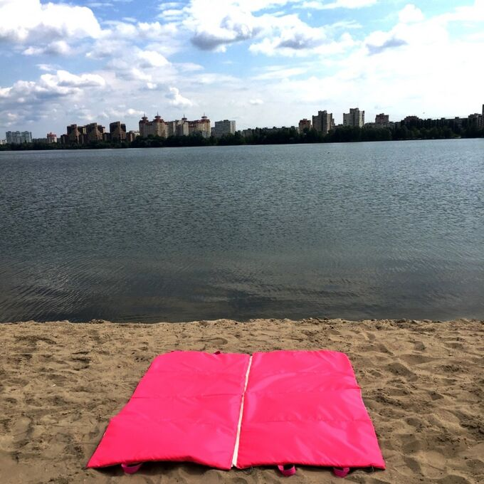 Пляжная сумка-лежак Морской бриз двухместный розовый