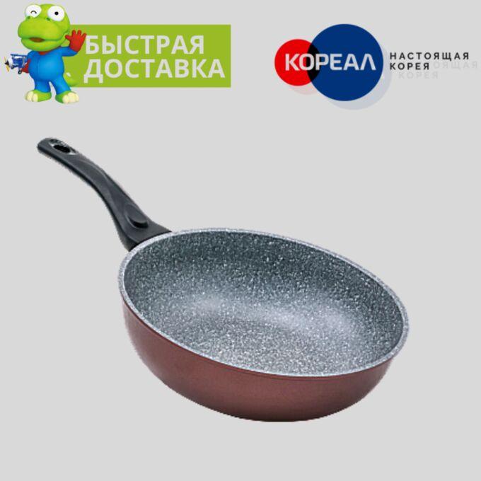 Сковорода Gochu Ecoramic 28 см ВОК с каменным покрытием для всех видов плит