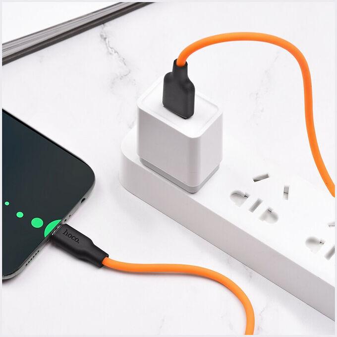 Силиконовый USB кабель HOCO X21 Plus Lightning / Micro / Type-c