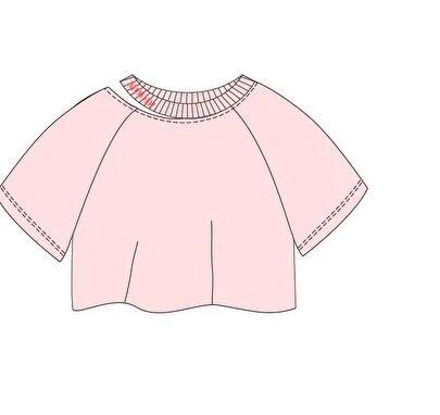 Джемпер дд Белый, синий,светло розовый, осн.ткань: кулирная гладь 95% хлопок 5% эластан