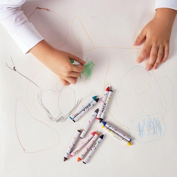 МОЛА Восковой карандаш, разные цвета, 12 шт