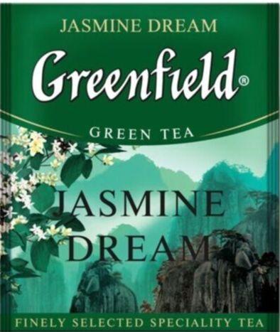 Чай Гринфилд Jasmine Dream пакет термосаше в п/э уп. для Horeka  1,5г 1/100/10