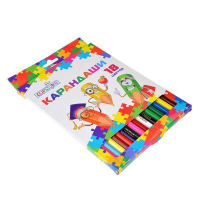 ClipStudio Карандаши 18 цветов шестигранные заточенные, дерево, в карт.коробке с подвесом