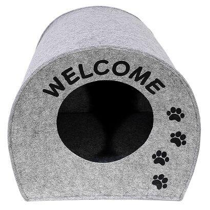 "Домик для животных""Будка WELCOME"", войлок, 33х33х45см"