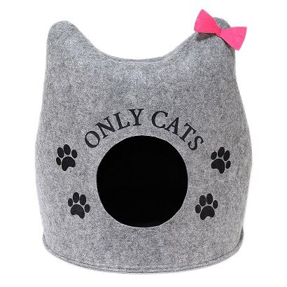 "Домик для животных ""Ушастик ONLY CATS"", войлок, 46х46х43см"