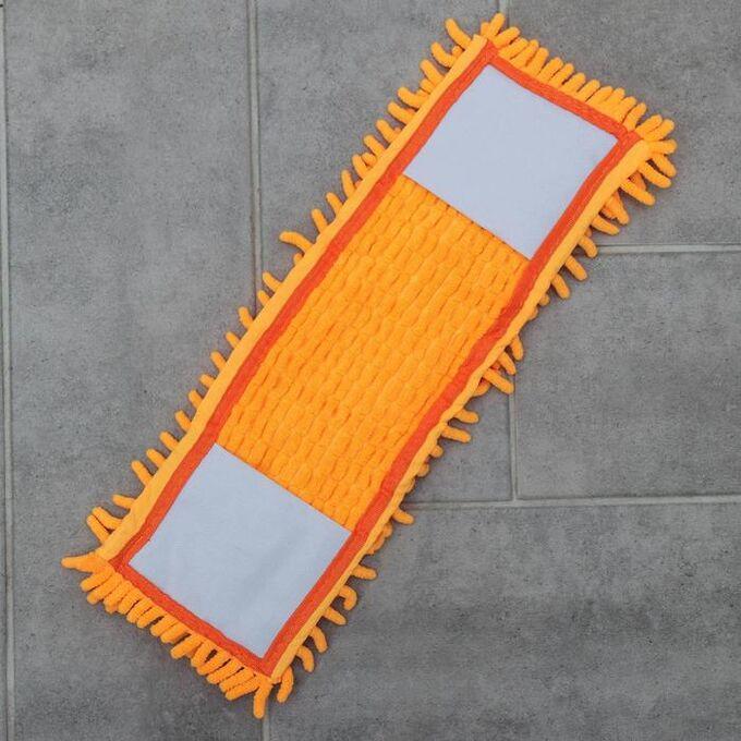 Насадка для плоской швабры Доляна, 40?10 см, 80 гр, микрофибра букли, цвет МИКС
