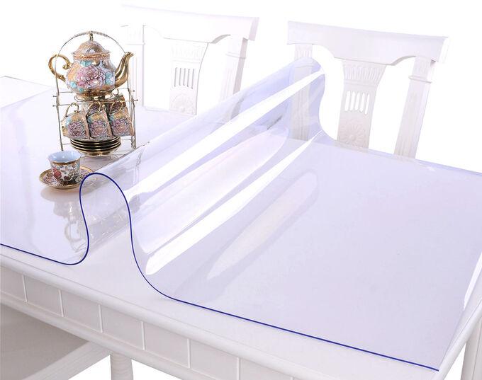 Силиконовая клеенка прозрачная / Ширина 80 см, Толщина 1 мм