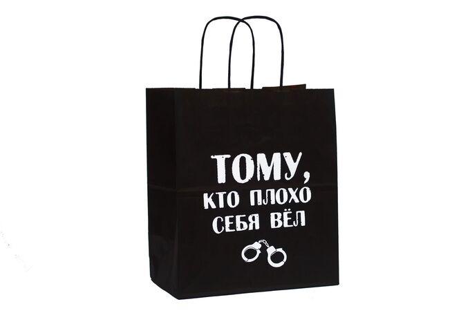 Пакет подарочный- Тому, кто плохо себя вёл