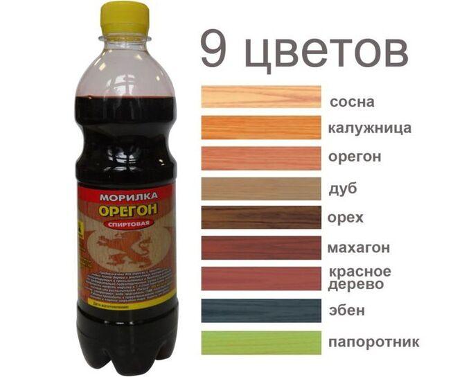 Состав АНЛЕС Морилка для дерева спирт., 0,5л - ПАПОРОТНИК