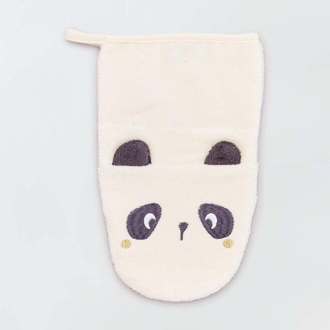 Комплект из 2 перчаток для душа с животными Eco-conception - белый