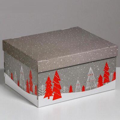 Коробка складная НГ 31х25х16см
