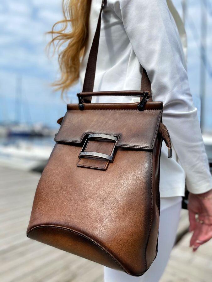 Рюкзак женский. Натуральная кожа. ❗️ВИДЕООБЗОР❗️