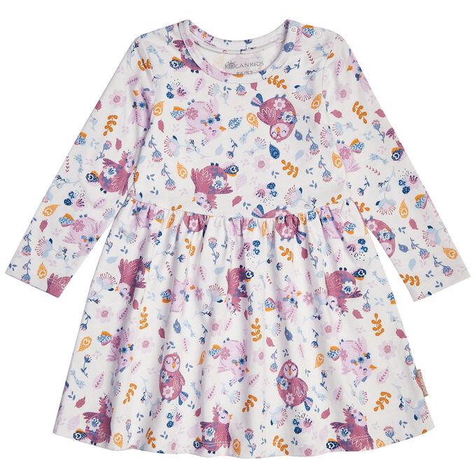 Платье для девочки, набивка птички