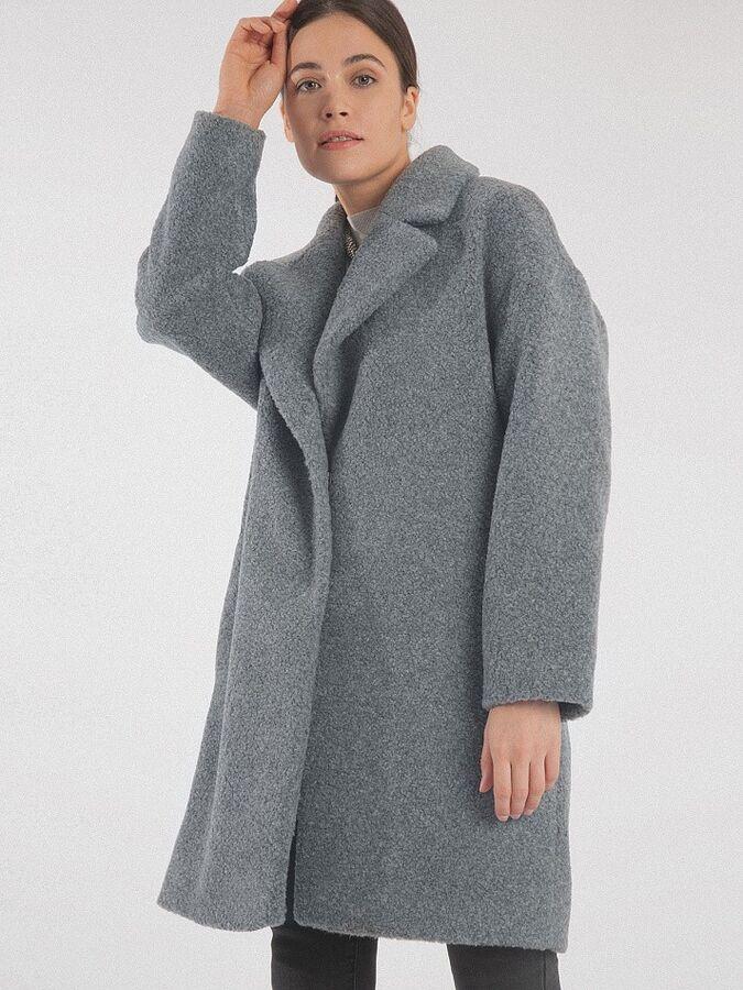 Пальто из структурной ткани R066/salamon