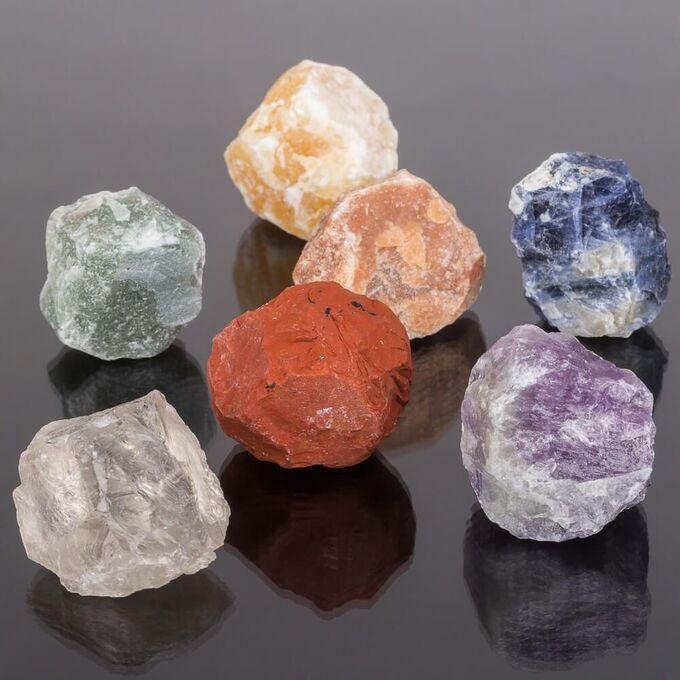 Чакра-сет необработанный из Самоцветов (7 камней)