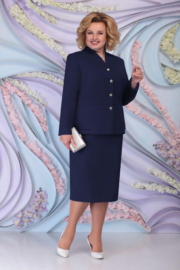 Жакет, юбка Ninele 2266 темно-синий