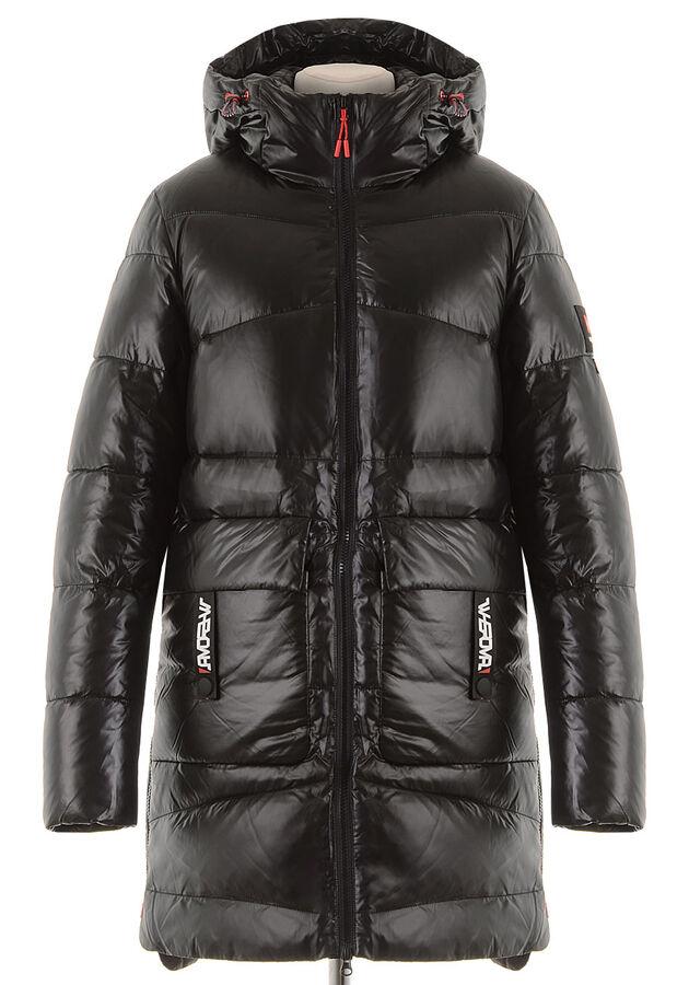 Зимняя удлиненная куртка WHS-59342 пуховик в Артеме