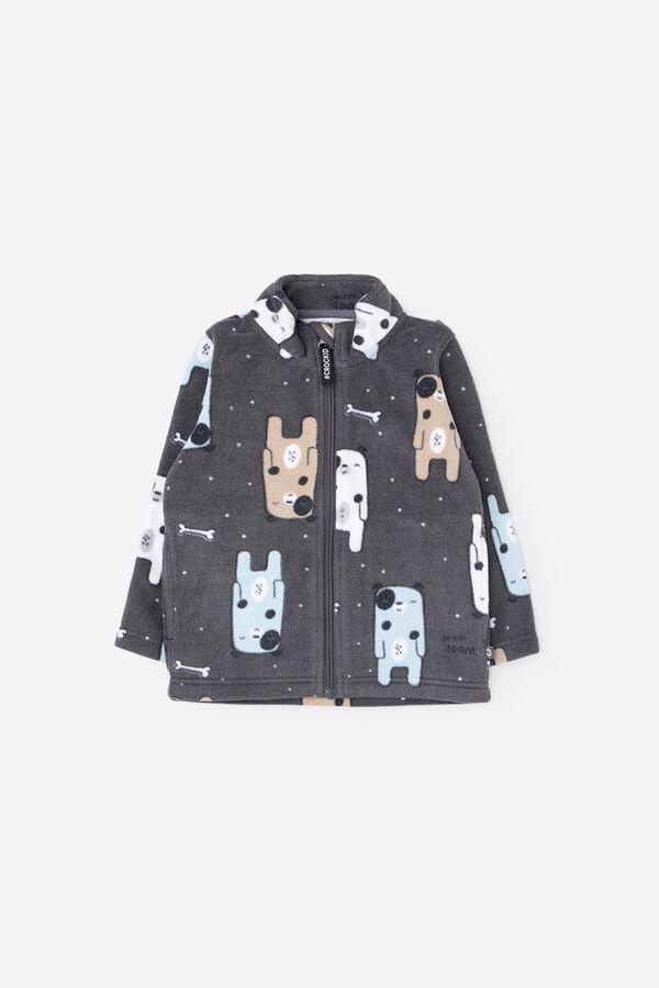 Куртка(Осень-Зима)+boys (серый, собачки)