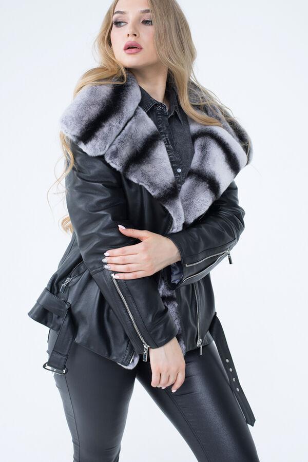 Куртка утепленная из натуральной кожи
