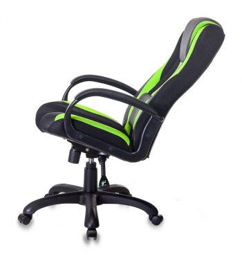 Кресло игровое Бюрократ VIKING-9 черный/салатовый искусст.кожа/ткань