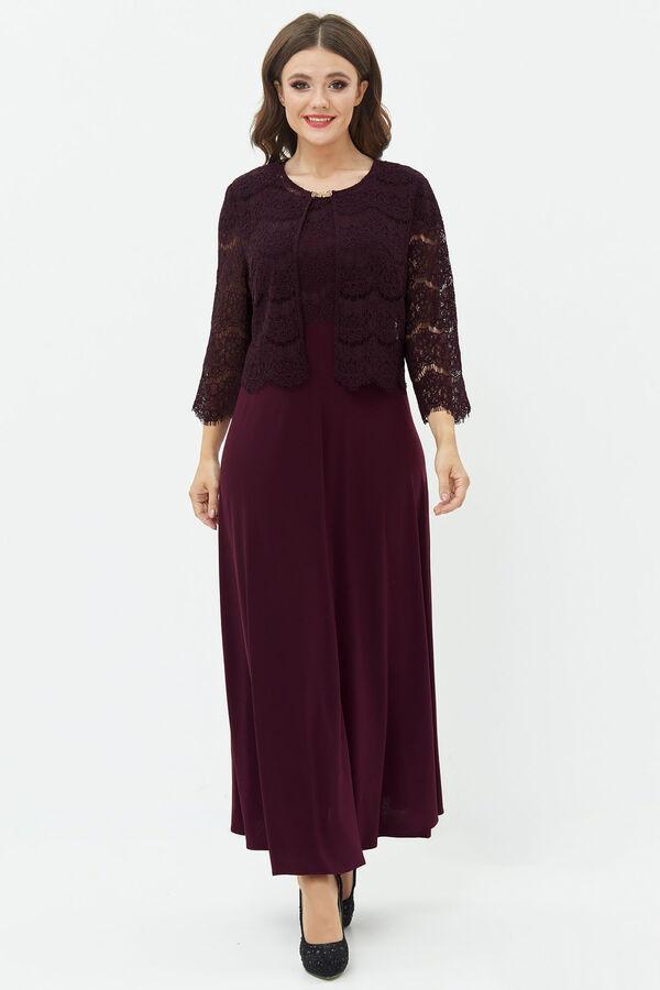 Фиолетовый Примечание: замеры длин соответствуют размеру 56, рост 164 см. Длина платья: 133 см. Длина накидки: 47 см. Длина рукава платья: 11 см. Длина рукава накидки: 48 см. Подкладка платья: нет. По