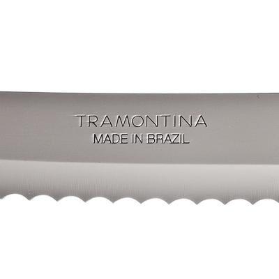 Tramontina Athus Нож для хлеба 18см, черная ручка 23082/007